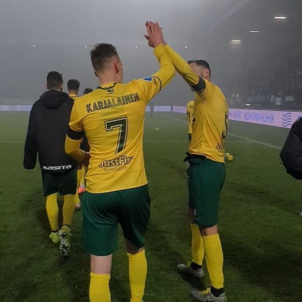 Finish National team player Rasmus Karjalainen scored the winning goal for his Fortuna Sittard when they defeated FC Groningen with 1-0 last night.  Congratulations Rasmus. Keep up the good work.