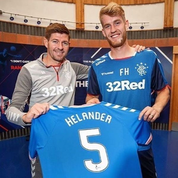 Swedish National team player Filip Helander just signed a 4 year contract with Scottish Giants FC Rangers. Here with Rangers manager and Liverpool legend Steven Gerrard. Congratulations and good luck Filip