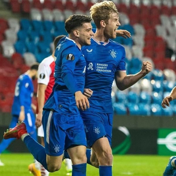 Filip Helander scored the goal when his Rangers drew Slavia Prague with 1-1 in the UEFA Europa League. Well done Filip.